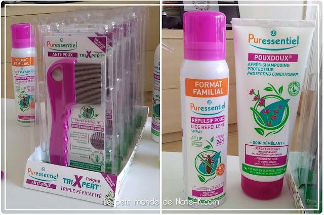 peigne triXpert, repulsif poux et après shampoing Puressentiel