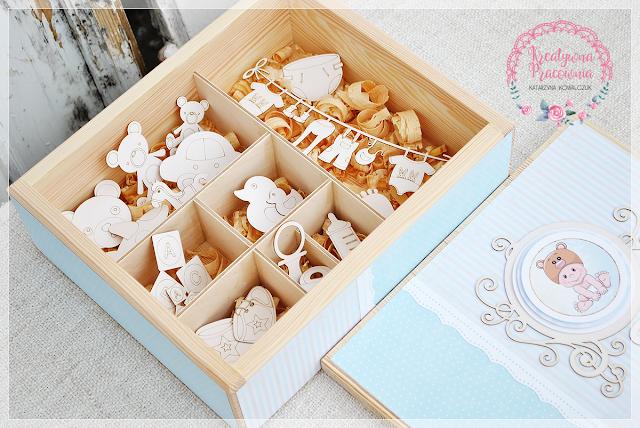 drewniane pudełko na skarby dziecka, handmade