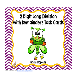 St. Patrick's Day 2 Digit Long Division with Remainders Task Cards