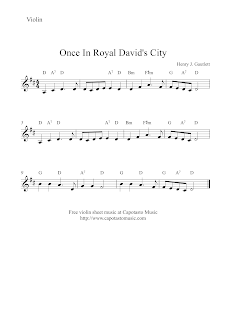 Once In Royal David's City, violin sheet music