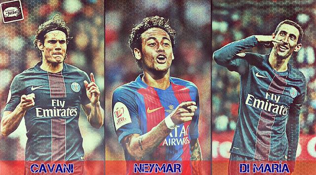 La CND del París Saint Germain: Cavani, Neymar, Di María