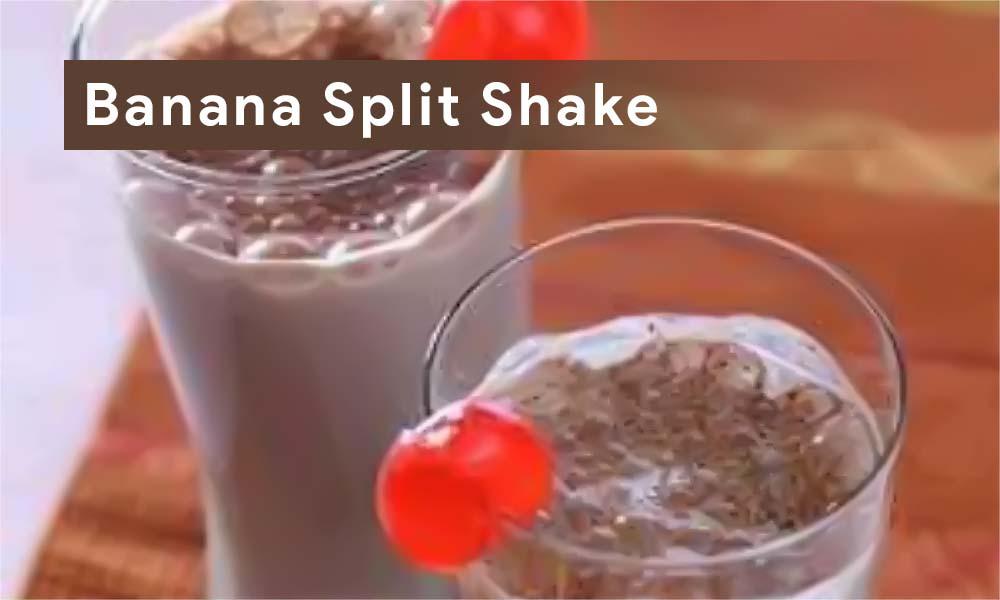 Banana Split Shake Coklat Nikmat Spesial Untuk Buka Puasa