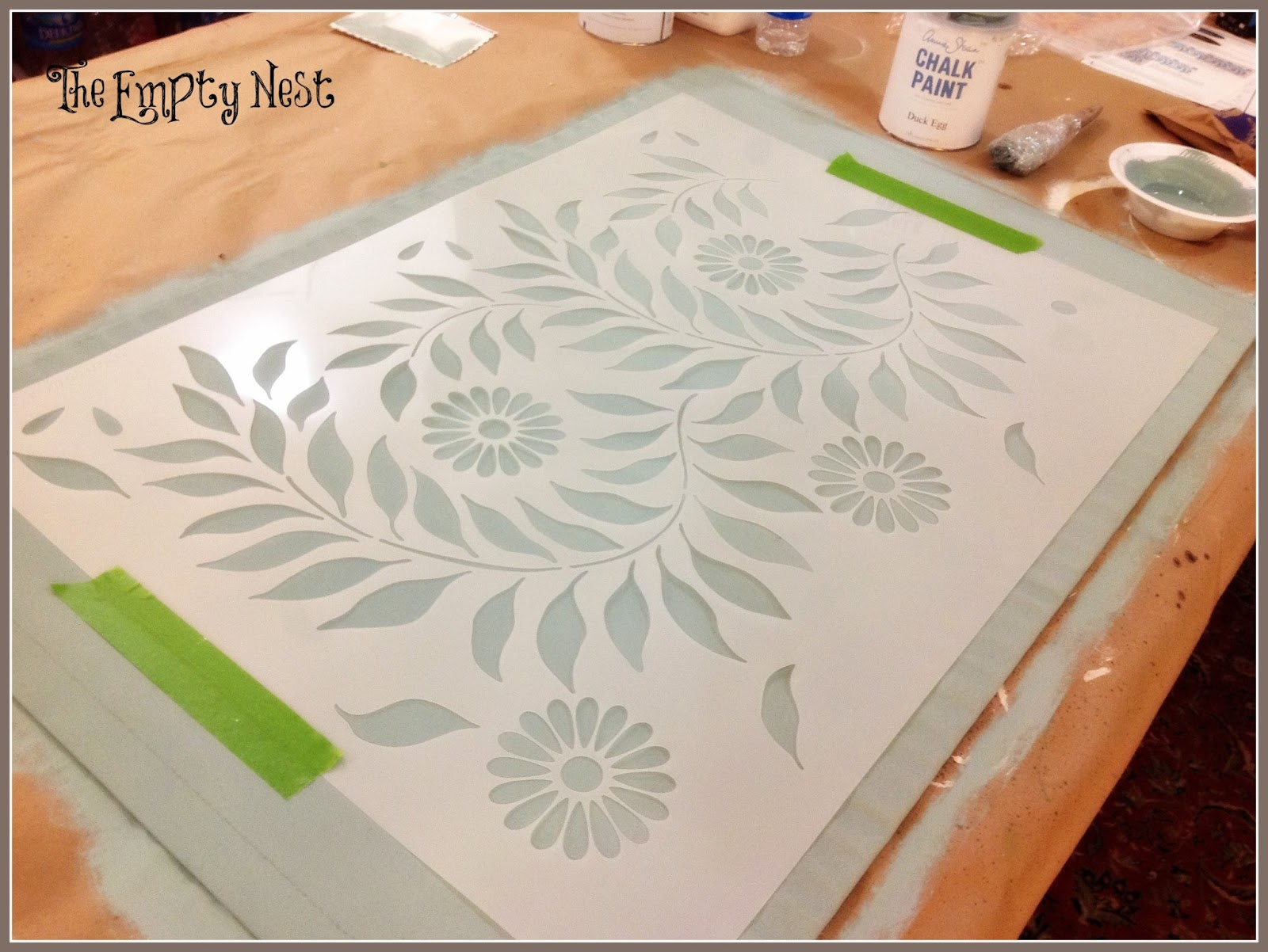 The empty nest chalk paint royal design studio for Printable stencils for canvas painting
