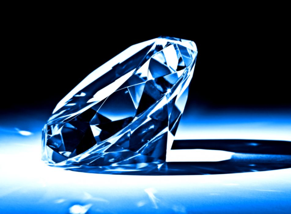 Big Blue Diamond Wallpaper HD Desktop