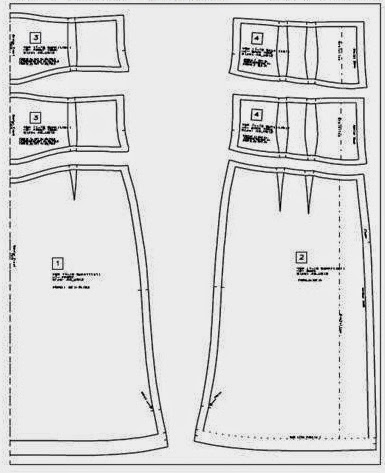 gráfico de patrón falda y canesú