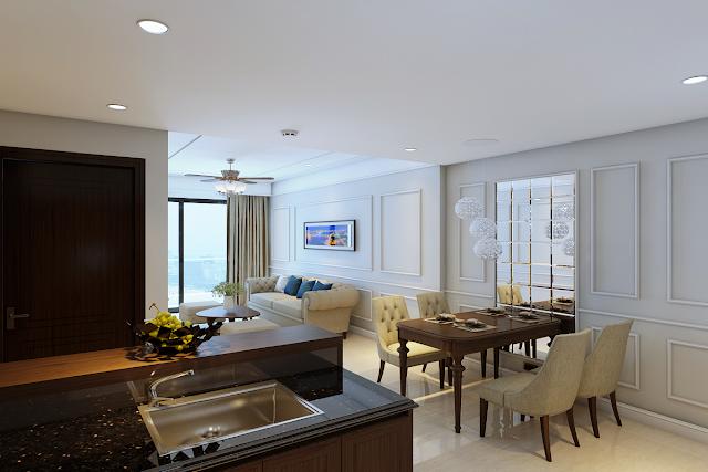 Hình ảnh căn hộ mẫu nhóm A dự án Luxury Apartment