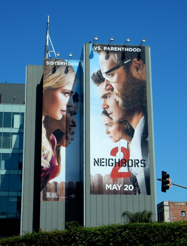 Giant Neighbors 2 movie billboard