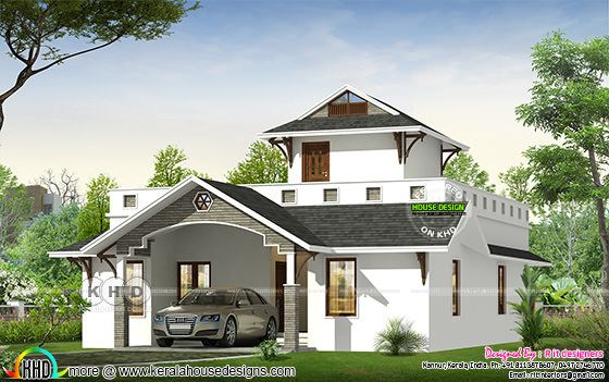2 bedroom attached 1577 sq-ft home design