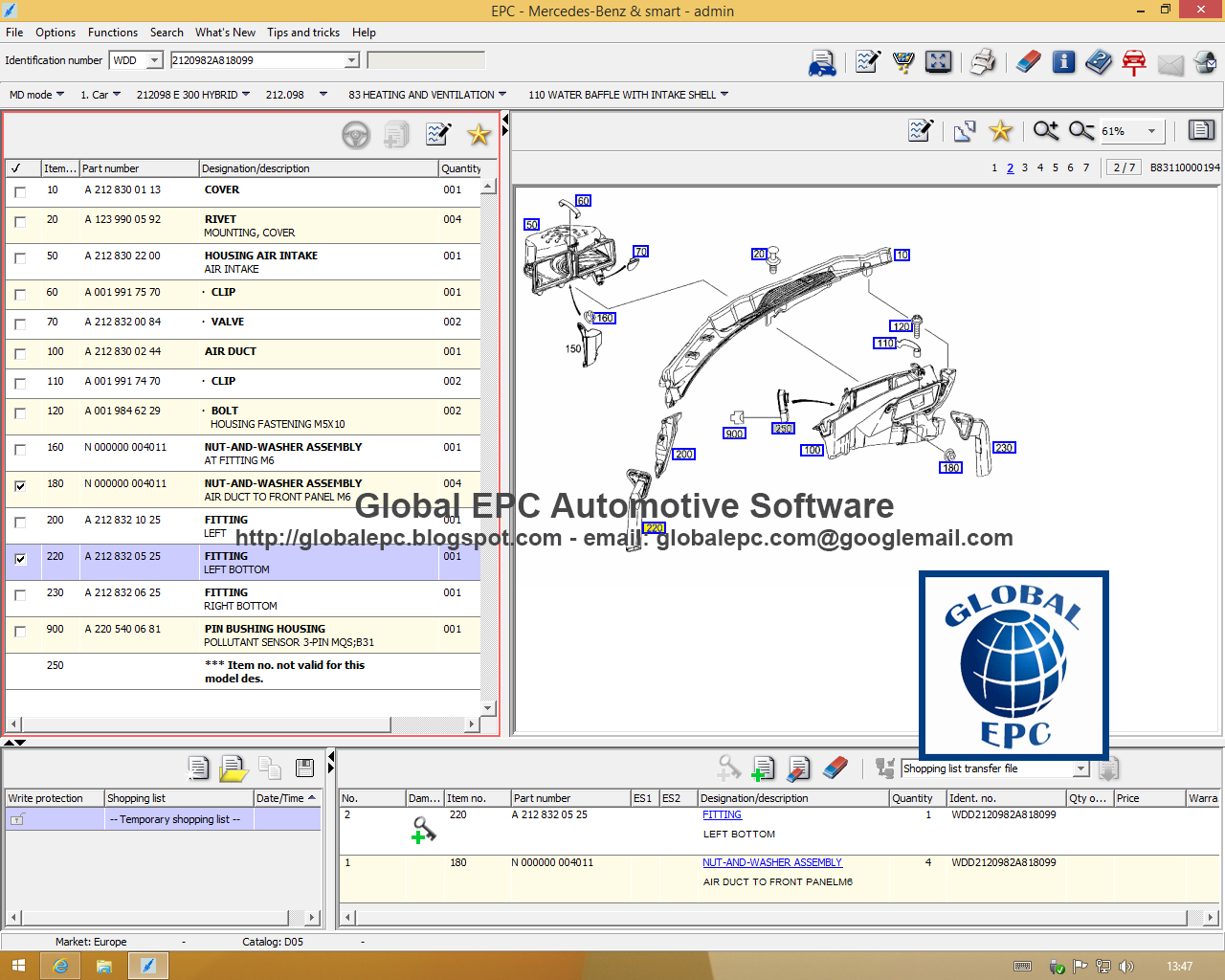 Global epc automotive software mercedes benz smart ewanet for Mercedes benz software