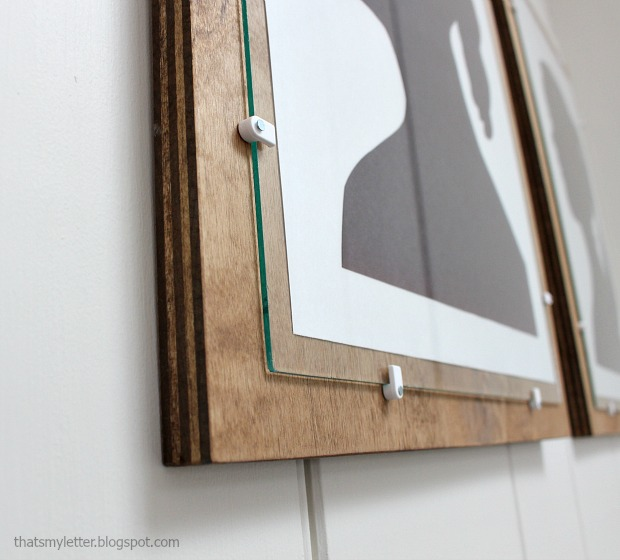 Diy Wire Frame Glasses : Thats My Letter: DIY Plywood Frame with Glass
