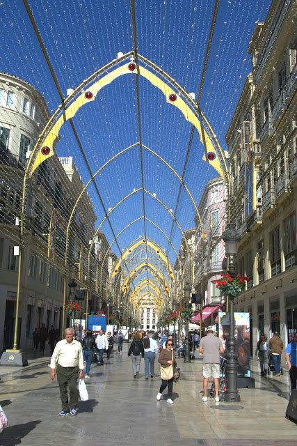 ulice w centrum Malagi