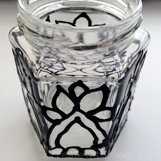 glass paint decor container