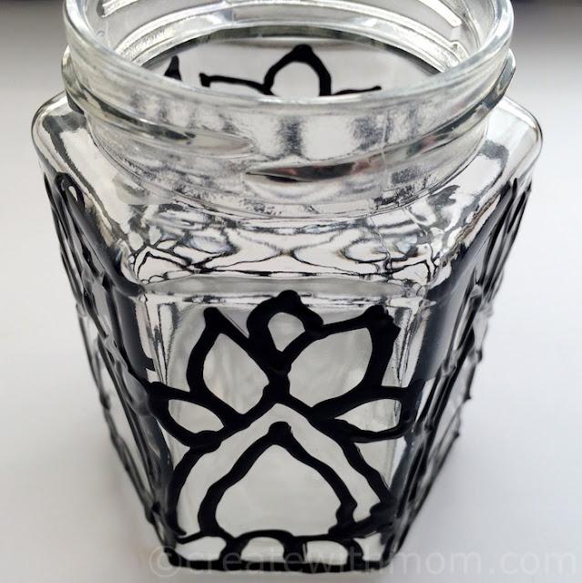 glass paint decor container