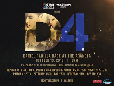 D4: Daniel Padilla Back at Araneta