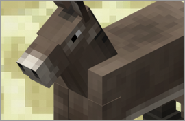 Minecraft Donkey Figures