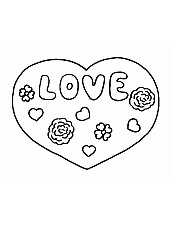 Kleurplaten Van Love You.18 Mooie Liefdes Kleurplaten