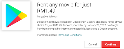 Google Play Movies Rental Discount Promo