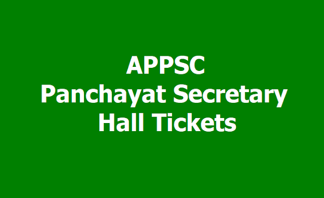 APPSC Panchayat Secretary Hall Tickets