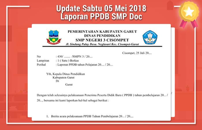 Update Sabtu 05 Mei 2018 Laporan PPDB SMP Doc