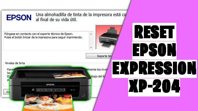 resetear impresora EPSON Expression XP-204