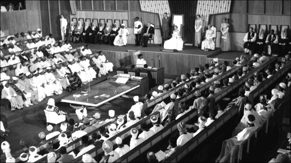 Princess Alexandra opens the newly independent Nigerian Federal Parliament in Lagos on 3 October 1960