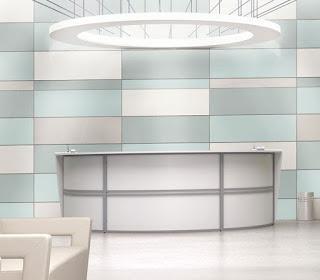 OFM Marque Series White Reception Desk at OfficeFurnitureDeals.com