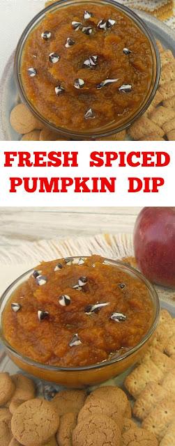 Delicious Spiced Pumpkin is so versatile - use it as a dip or as a spread on toast ~ serve warm or cold ! #PumpkinRecipe #PumpkinDip #Dips #FallRecipe #PumpkinSpread