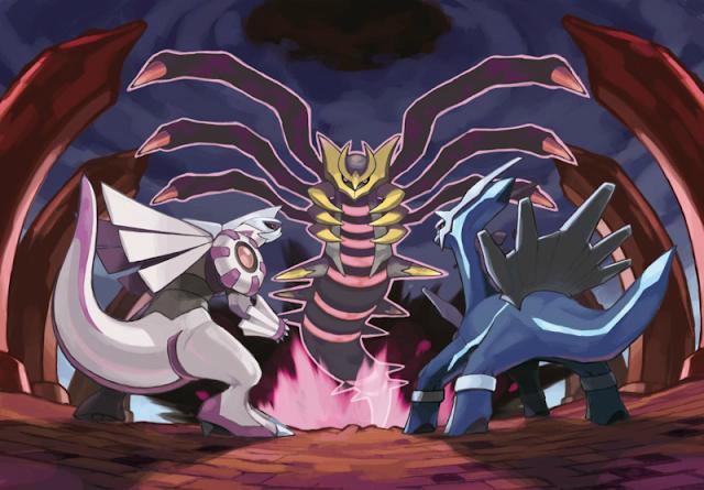 O trio da criação do Universo Pokémon