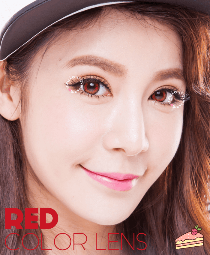 venus eye bright red colored contacts