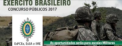 Edital Concursos EXÉRCITO BRASILEIRO 2017.