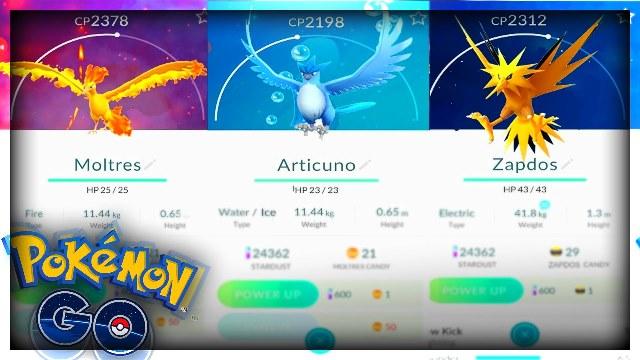 Las aves legendarias llegarían a Pokémon GO esta primavera