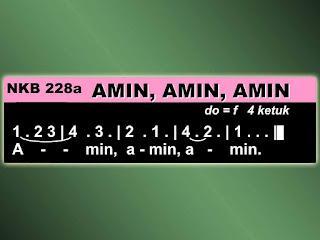 Lirik dan Not NKB 228a Amin