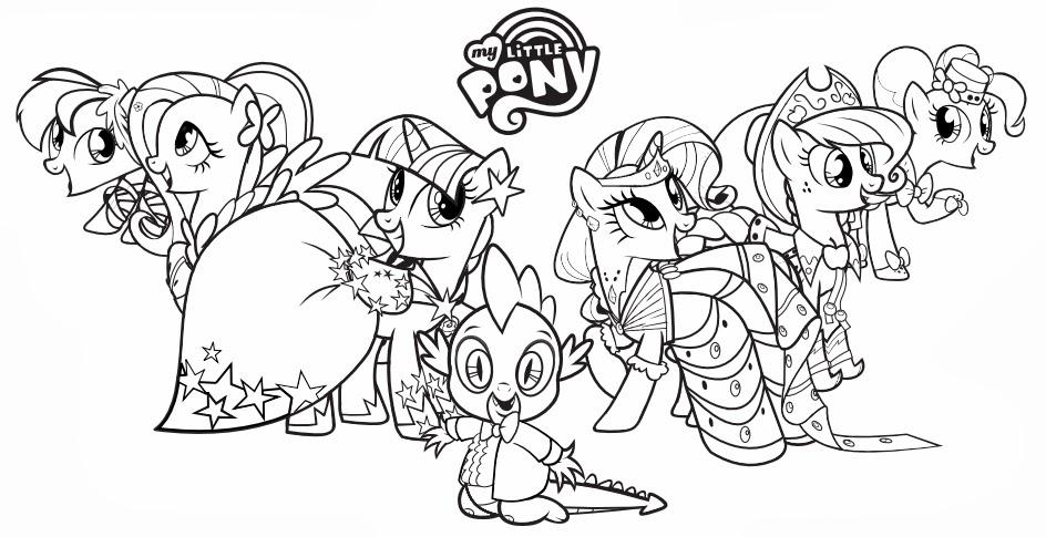 Dibujos De Pony Para Imprimir Y Colorear: Blog MegaDiverso: Little Pony Para Imprimir Y Pintar