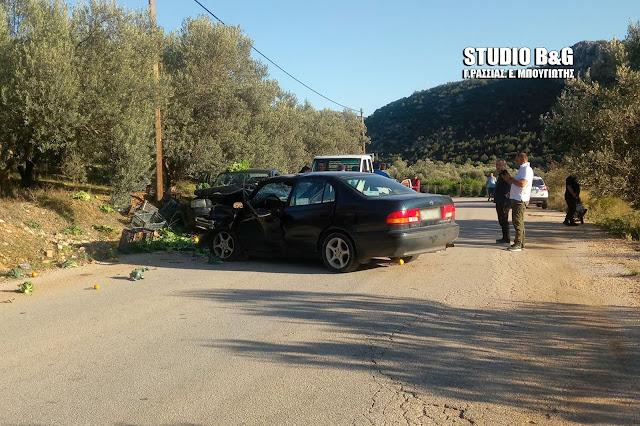 Αργολίδα: Σοβαρό τροχαίο δυστύχημα από μετωπική συγκρουση αυτοκινήτων κοντά στην Κάντια