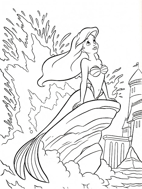 The Little Mermaid Coloring Pages Coloring Pages Printable Ariel Coloring  Pages  Cartoon Ariel Coloring