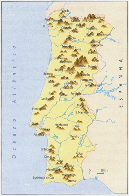 mapa de portugal com as serras Serras De Portugal Mapa | thujamassages mapa de portugal com as serras