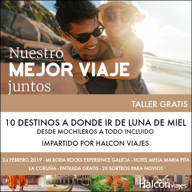 halcon viajes taller mi boda rocks experience galicia 2019