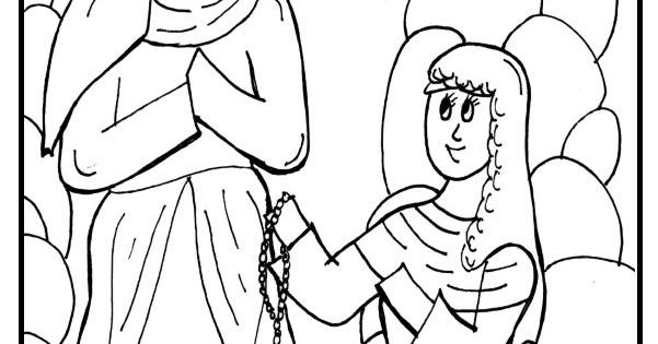 Saint Bernadette Coloring Page Sketch Coloring Page