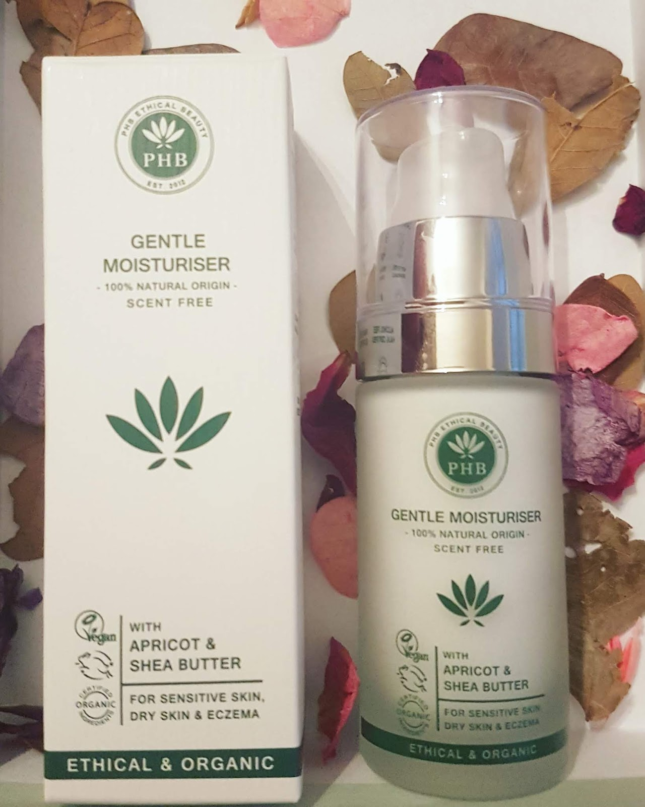 PHB Gentle Moisturizer, 100% natural scent free