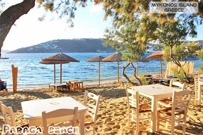 Paraga beach Mykonos island