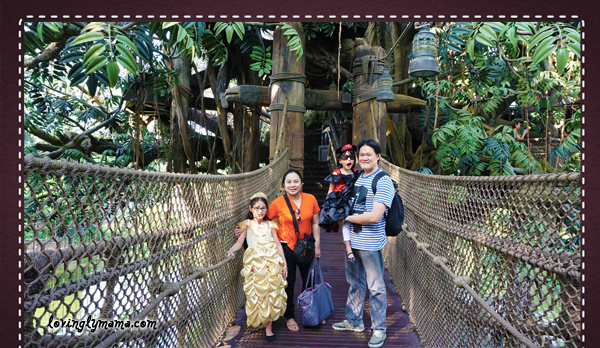 DIY Hong Kong Tour Itinerary - Hong Kong family tour - visit Hong Kong - Hong Kong Disneyland - Tarzan's Jungle Tree House