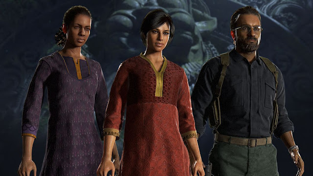 Personagens de Uncharted: The Lost Legacy a caminho do multijogador de Uncharted 4