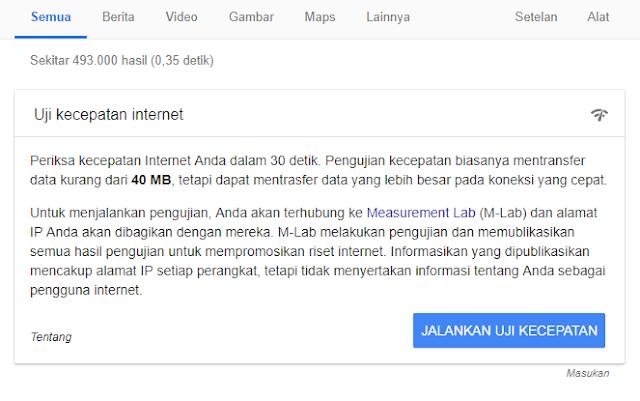 Uji Kecepatan Internetmu dengan Fitur Baru dari Google
