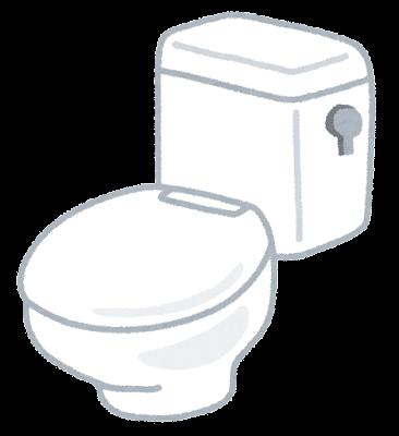便座の閉じたトイレのイラスト