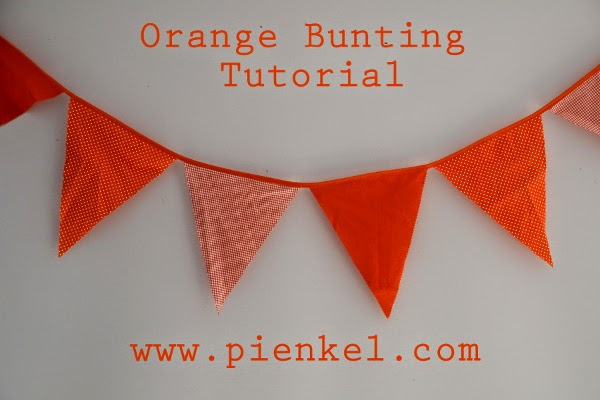 orange bunting tutorial