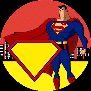 Toppers o Etiquetas de Superman Comic para imprimir gratis.
