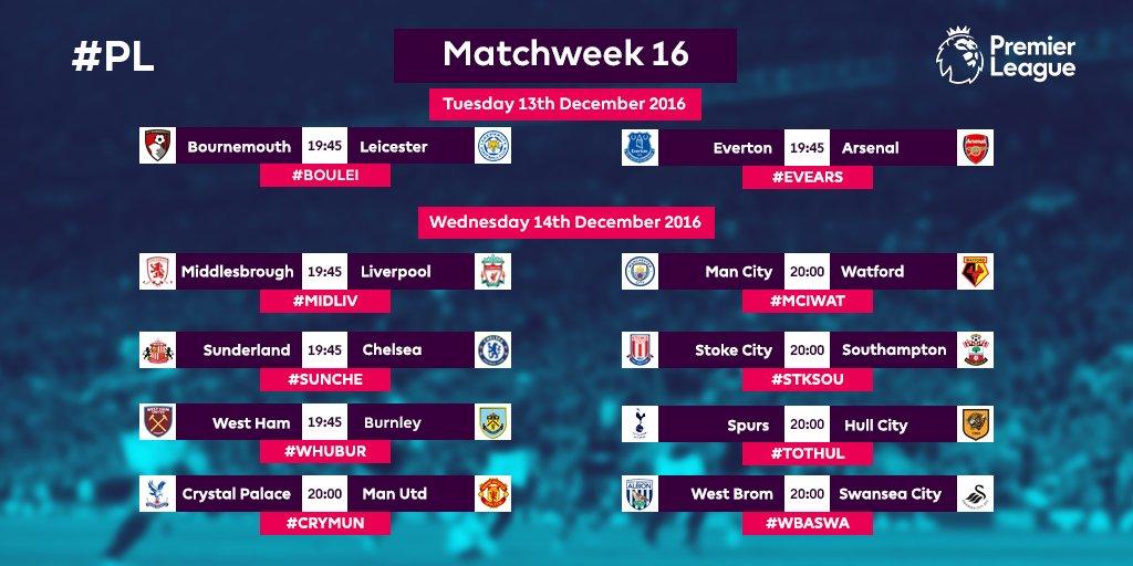 Bola mania jadwal liga inggris premier league pekan 16 dini hari jadwal liga inggris premier league pekan 16 dini hari stopboris Images