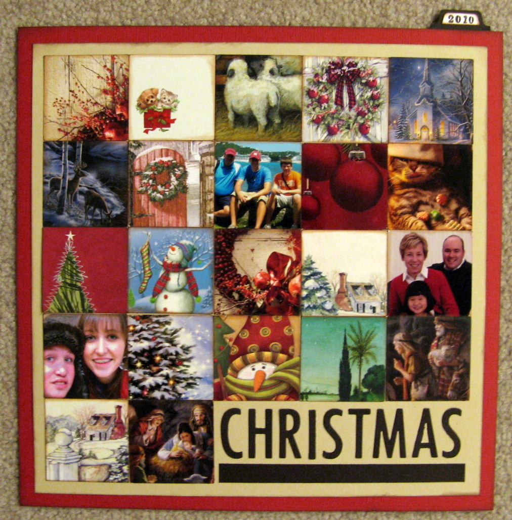 memory bound blog  project idea  christmas card collage