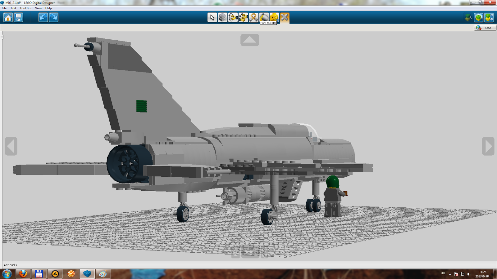 KOCKAGENERCI / LEGO blog : LDD szria: Mig-21 (valahol ...