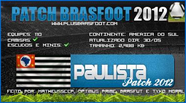 GRATIS 2012 PATCHES BAIXAR OS BRASFOOT TODOS